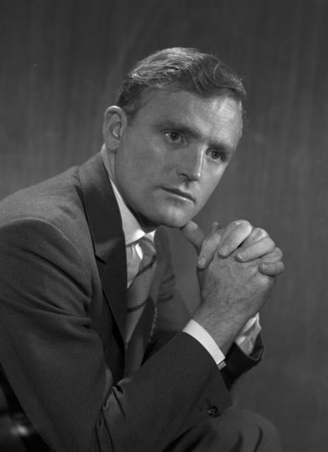 Portrait of Gareth Thomas, taken March 31, 1966. Morgue 1966-18 (P-1) [Photographer: Donald Cooksey]