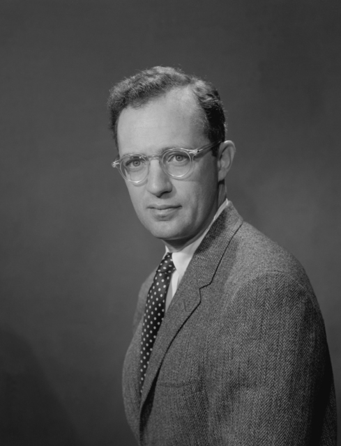 Portrait of physicist Harold P. Furth, Lawrence Radiation Laboratory's Sherwood Program, taken June 17, 1966. Morgue 1966-78 (P-1) [Photographer: Donald Cooksey]