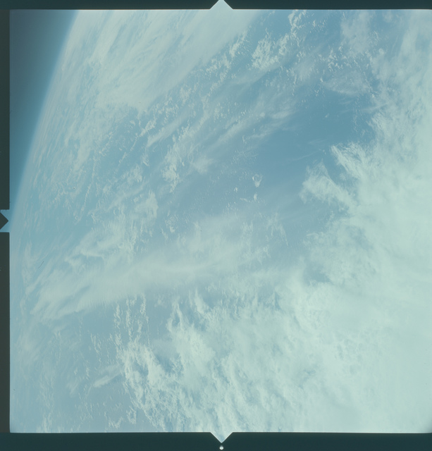 Gemini X Mission Image - Clouds over Indian Ocean