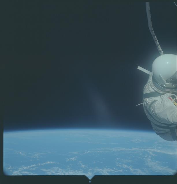 Gemini XII Mission Image - Major Aldrin during EVA