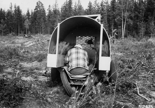 Photograph of Machine Planting Red Pine in Schley Camp Road Area