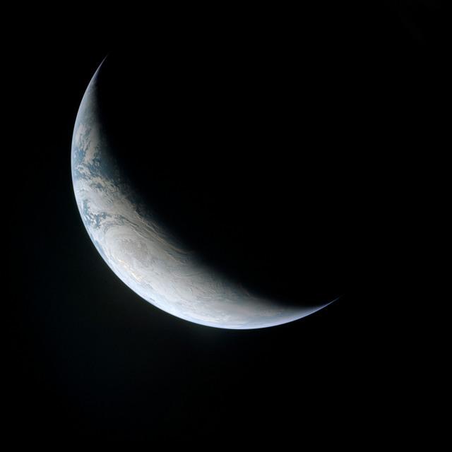 AS04-01-580 - Apollo 4 - Apollo 4 Mission - Atlantic Ocean,coastal Brazil,West Africa and Antarctica