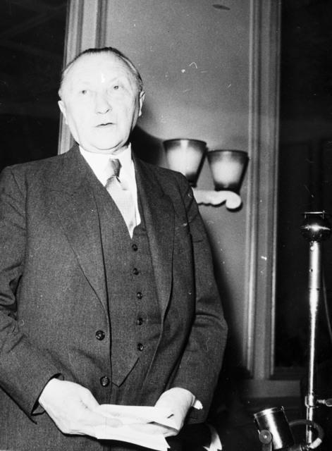 [Adenauer at Paris Radio Station]