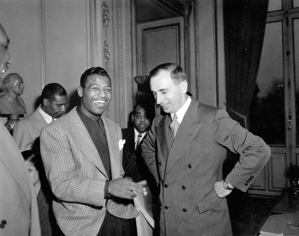 [Ambassador Katz, with Sugar Robinson]
