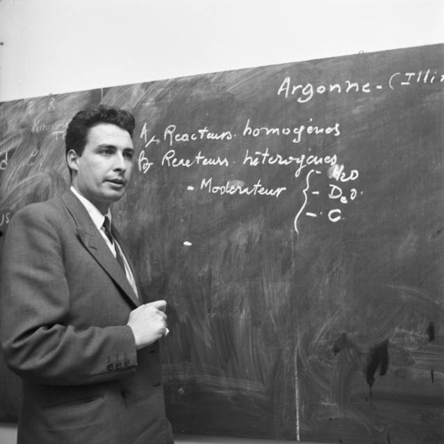 [Andre Gautier, French Atomic Researcher, Back from US]