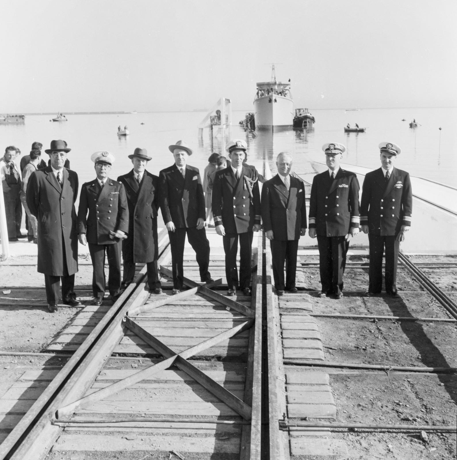[Cherbourg Ship Launching]