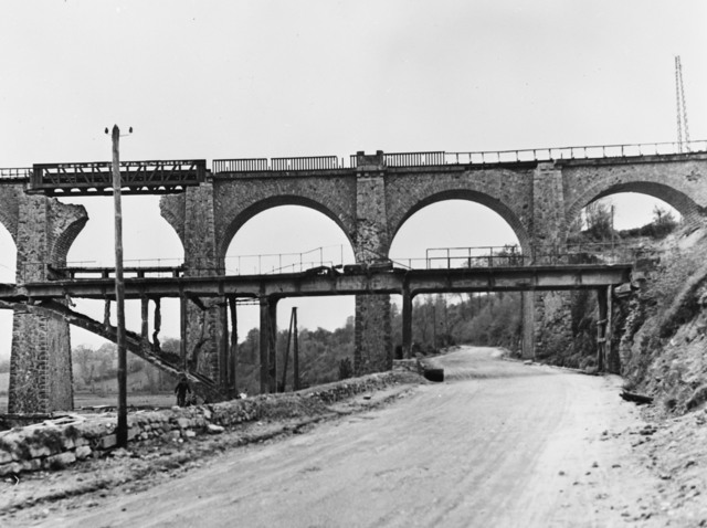 [Coutances Bridge, Normandy - Before & After]