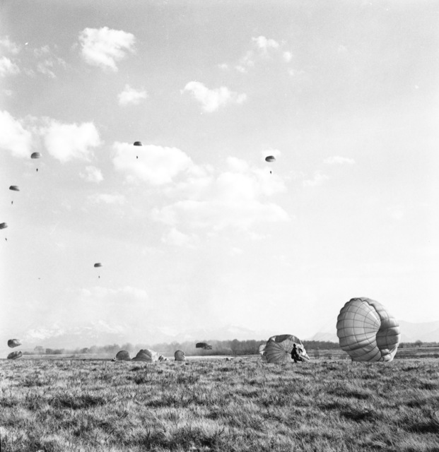 [French Train as NATO Paratroopers at Pau]