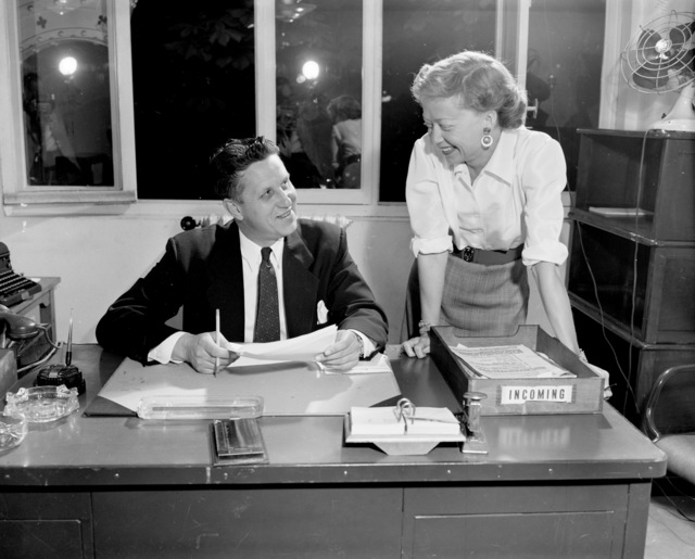 [Home Towners - John Hutchinson with Secretary]