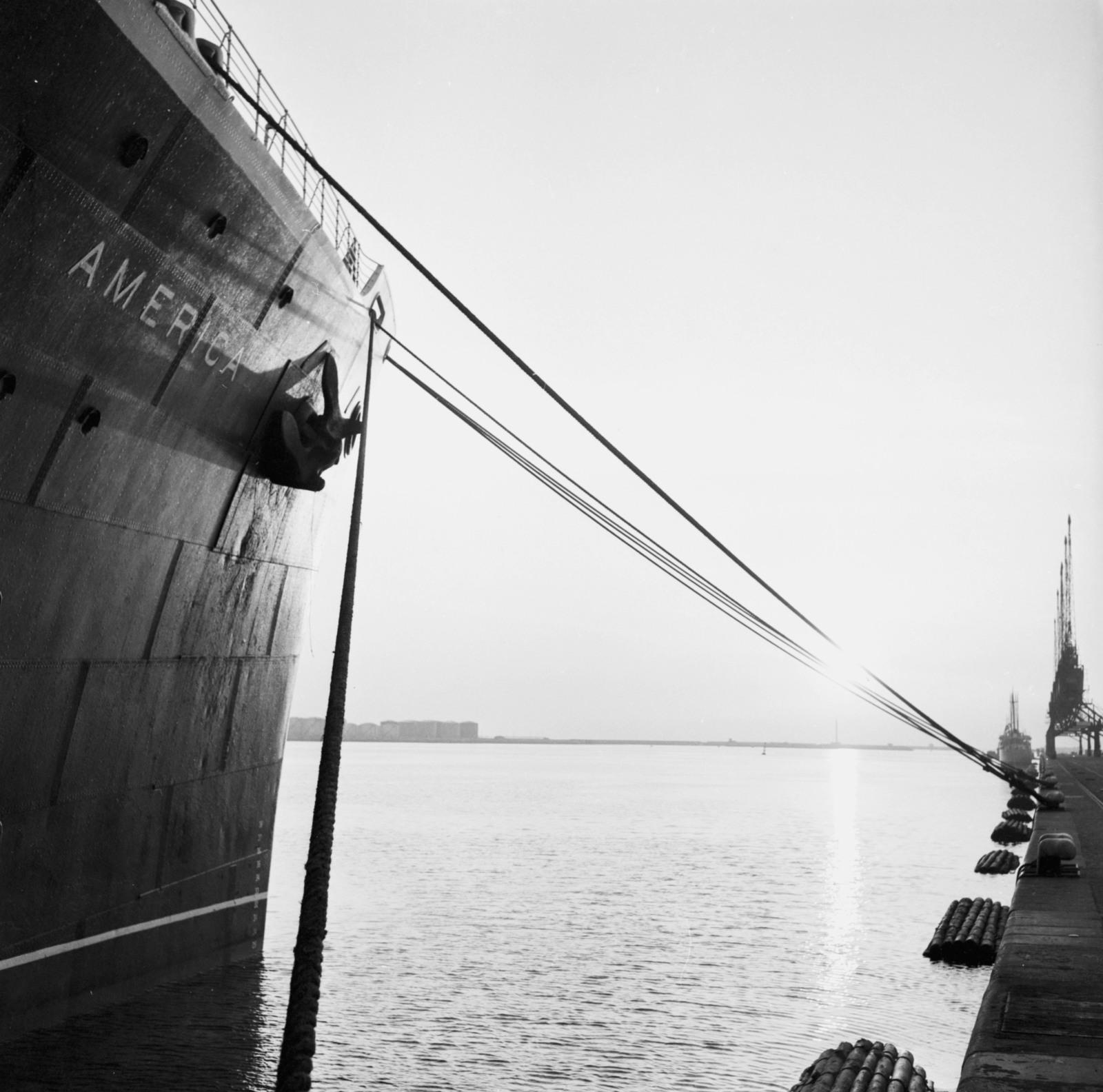 """[Le Havre Arrival on """"America"""" S. S. Orangerie Exhibit (Salut a la France)]"""