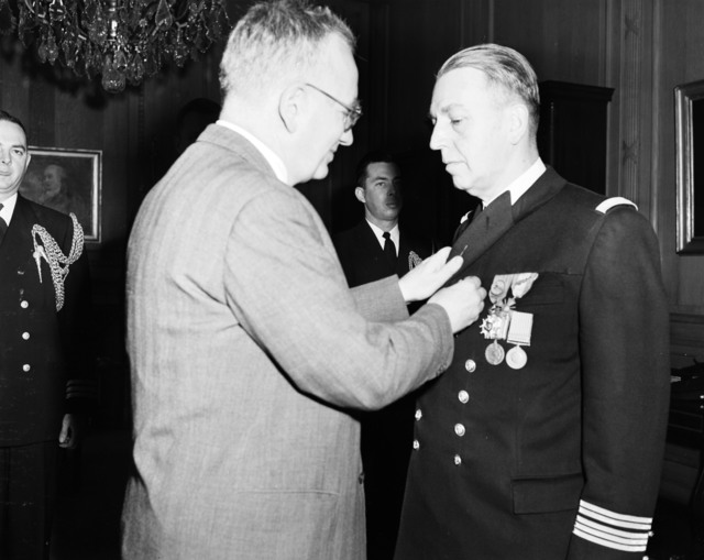 [Legion of Merit Award to Capt. Cabanie, French Navy]