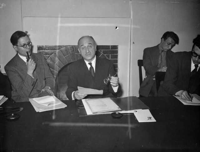 [Life of a Marshall plan Secretary in Paris]