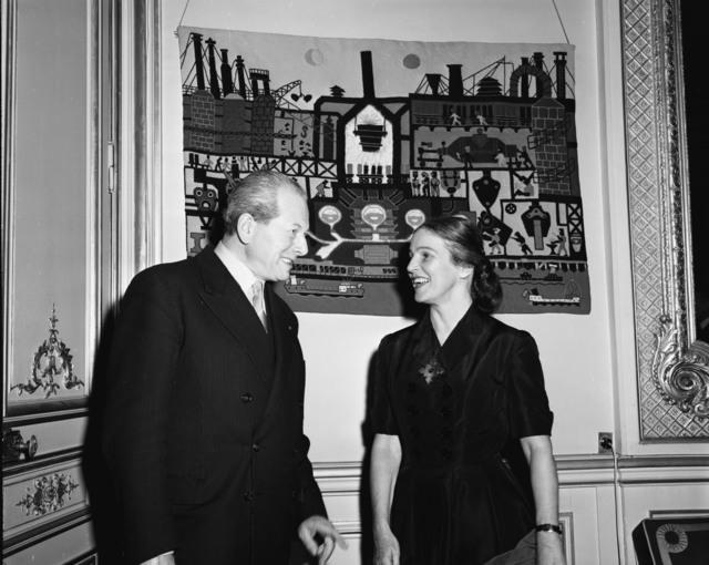 [Mrs. W. Johnstone's Tapestry Show (France Amerique)]