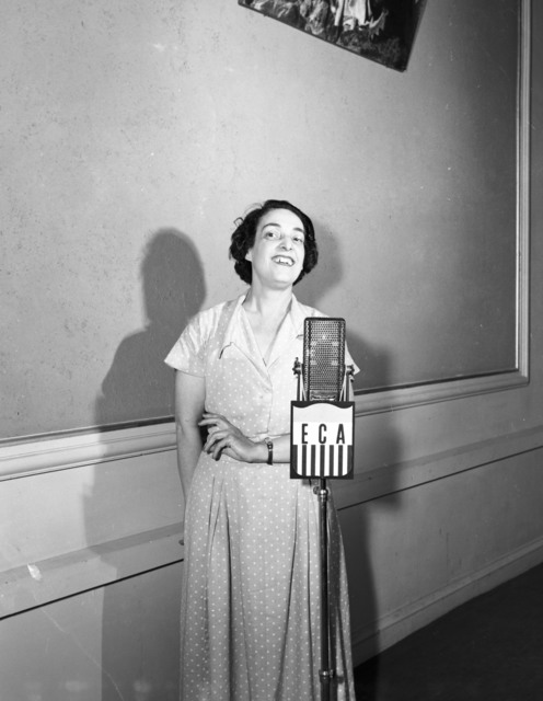 [Nelly Sawshuck, showing technical films for ECA]