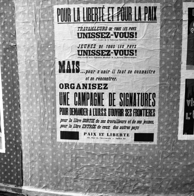 [Paix et Liberte - Produces Anti-Communist Posters]