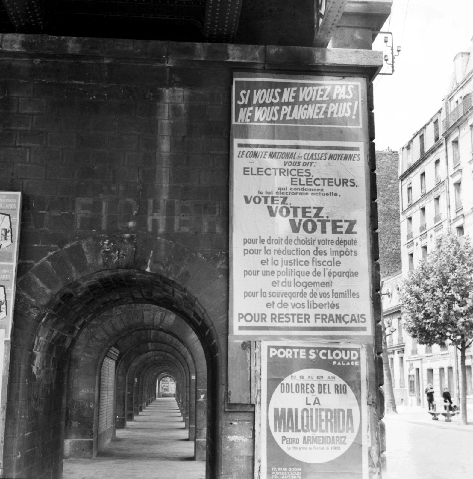 [Paris Plastered with Political Posters]
