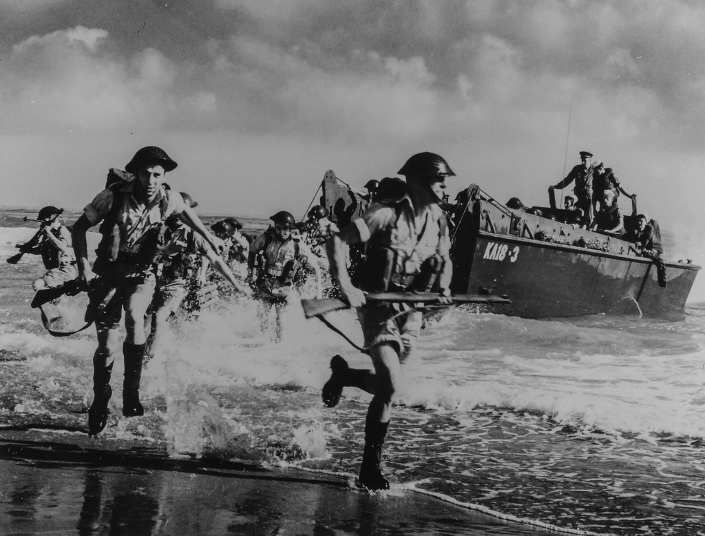 Photograph of Royal British Marines during Final Amphibious Maneuvers on the North African Coast