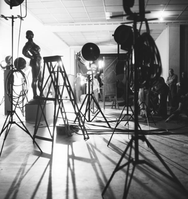 [Salut a la France, 50 Years of US Art Exhibit, Musee d'art Moderne, Movie Crews]