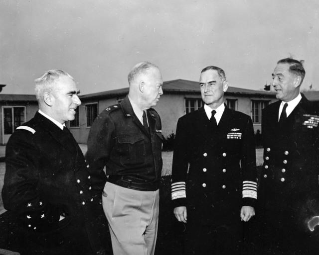 [SHAPE Officials and Gen. Eisenhower (Admiral Lemonnier, McCormick, W. Andrews)]