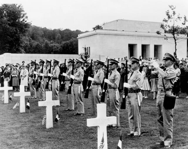 [US Cemeteries Dedicated in France]
