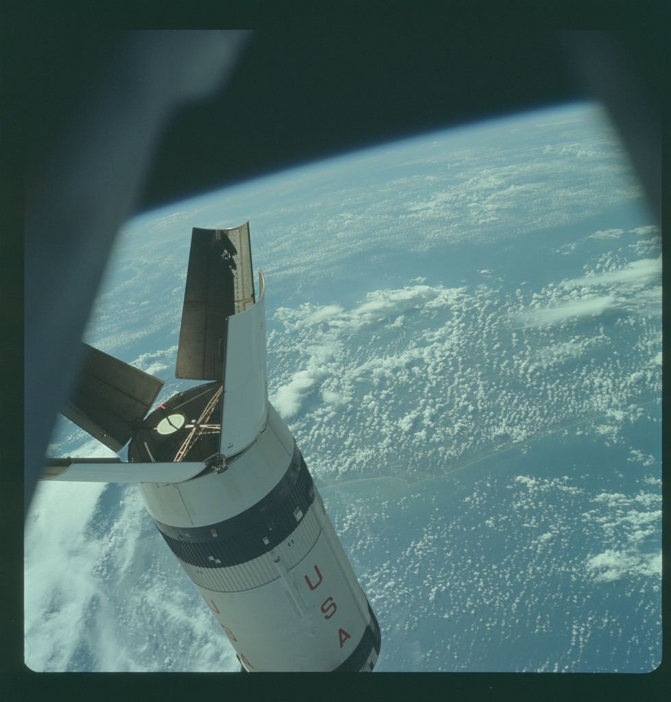 AS07-03-1546 - Apollo 7 - Apollo 7 Mission, Saturn IVB Stage