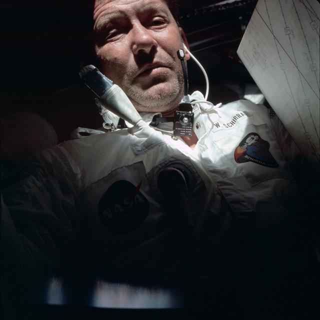 AS07-04-1582 - Apollo 7 - Apollo 7 Mission, Apollo Commander Walter Schirra, Jr.