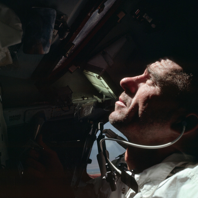 AS07-04-1584 - Apollo 7 - Apollo 7 Mission, Lunar Module Pilot, R. Walter Cunningham