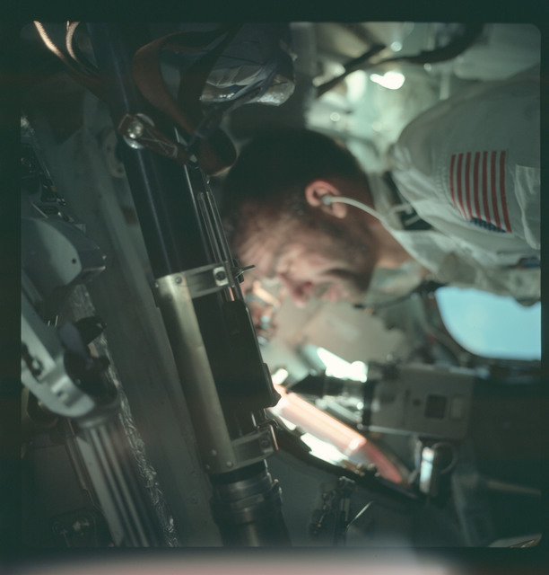 AS07-04-1597 - Apollo 7 - Apollo 7 Mission, Lunar Module Pilot Walter Cunningham