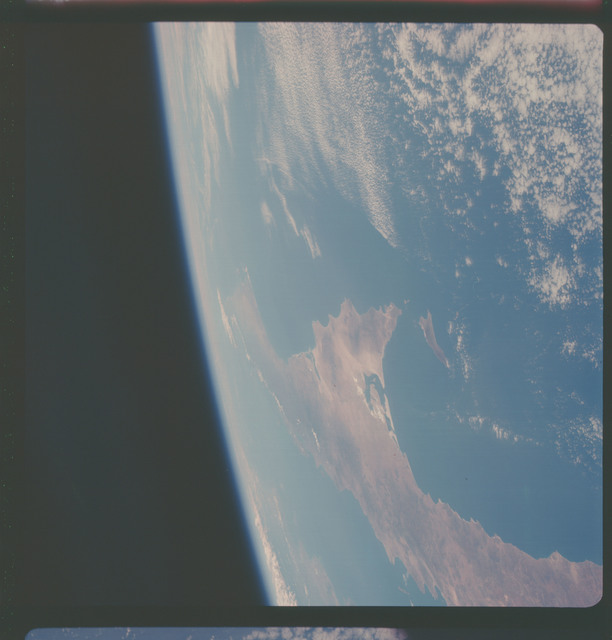 AS07-05-1628 - Apollo 7 - Apollo 7 Mission, Baja California, Gulf of California, western coast of Mexico