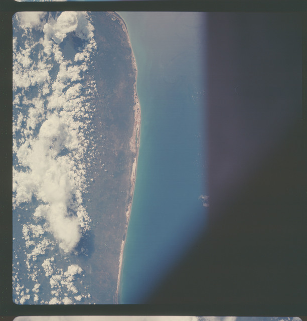 AS07-05-1636 - Apollo 7 - Apollo 7 Mission, Mexico, northern coast of Yucatan, Merida, Gulf of Mexico