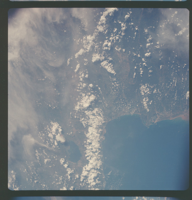 AS07-05-1641 - Apollo 7 - Apollo 7 Mission, Venezuela coastline, Gulf of Triste, Valencia. Low oblique