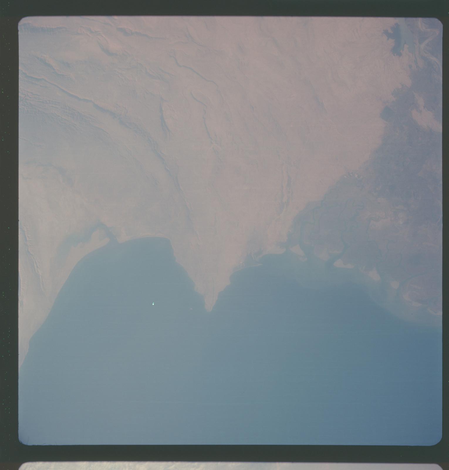 AS07-05-1661 - Apollo 7 - Apollo 7 Mission, Pakistan, Karachi and Indus River