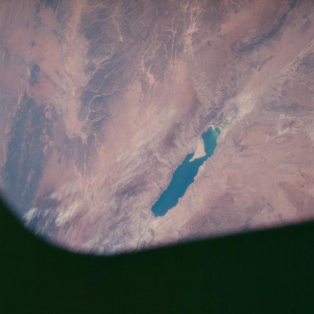 AS07-06-1698 - Apollo 7 - Apollo 7 Mission, Israel, Jordan: Dead Sea