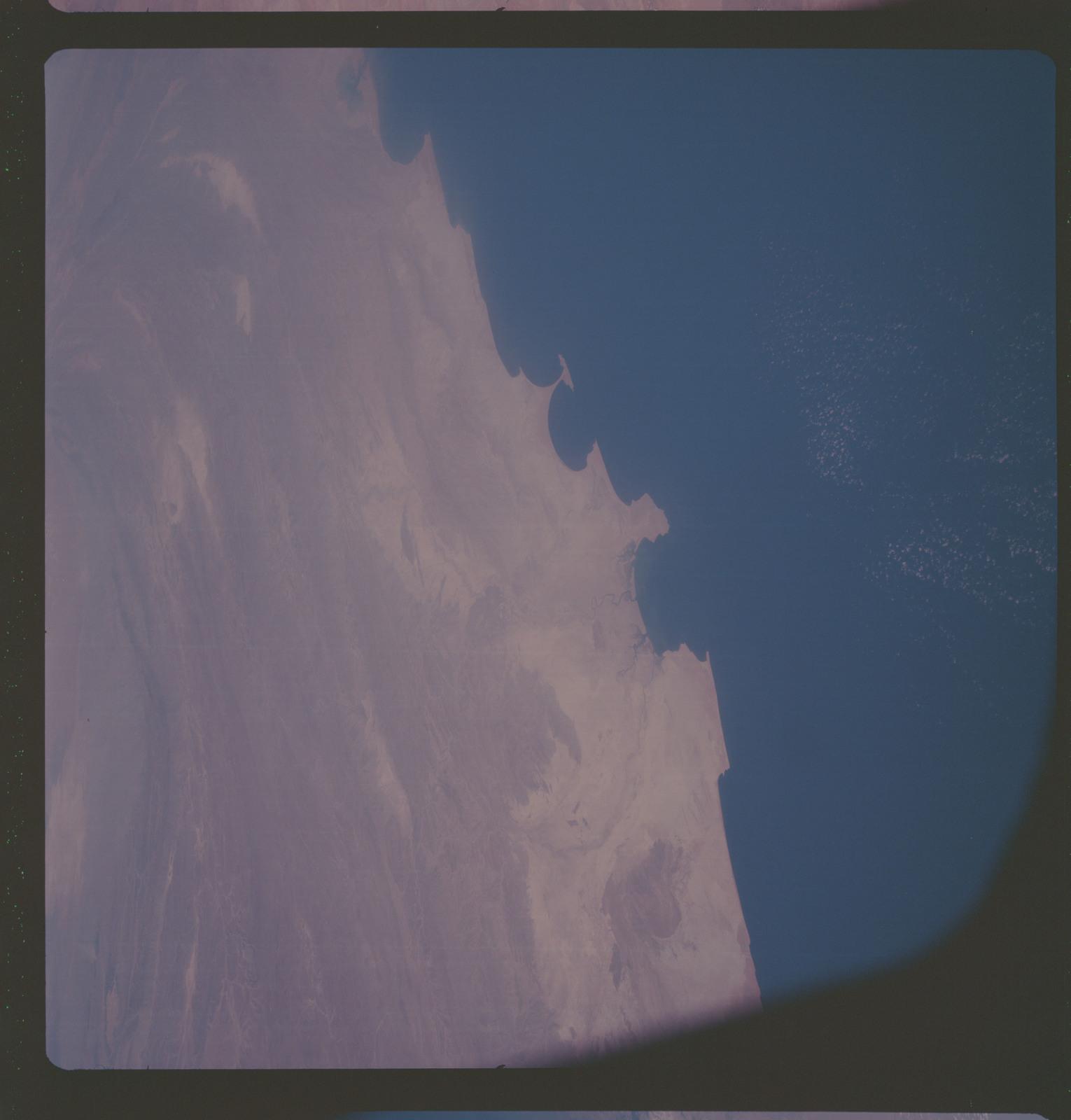 AS07-06-1704 - Apollo 7 - Apollo 7 Mission, Arabian Sea, Iran, Pakistan, Makran Ranges