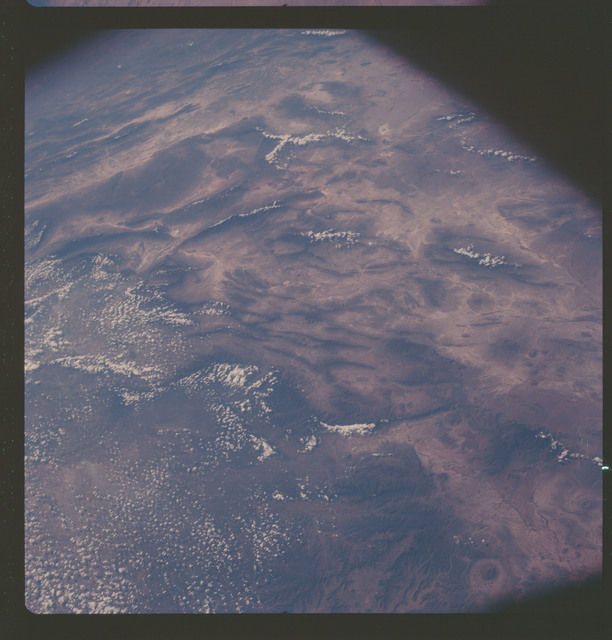 AS07-06-1732 - Apollo 7 - Apollo 7 Mission, Mexico, Torreon, Sierra Madre Mountains