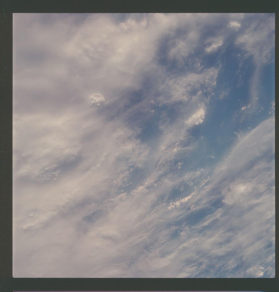 AS07-07-1763 - Apollo 7 - Apollo 7 Mission, Towering cumulus, cirrus clouds