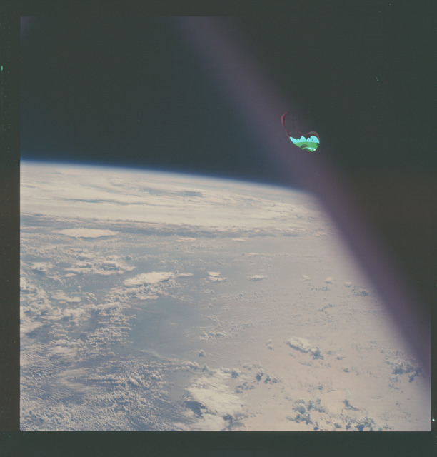 AS07-07-1874 - Apollo 7 - Apollo 7 Mission, Hurricane Gladys in the Gulf of Mexico