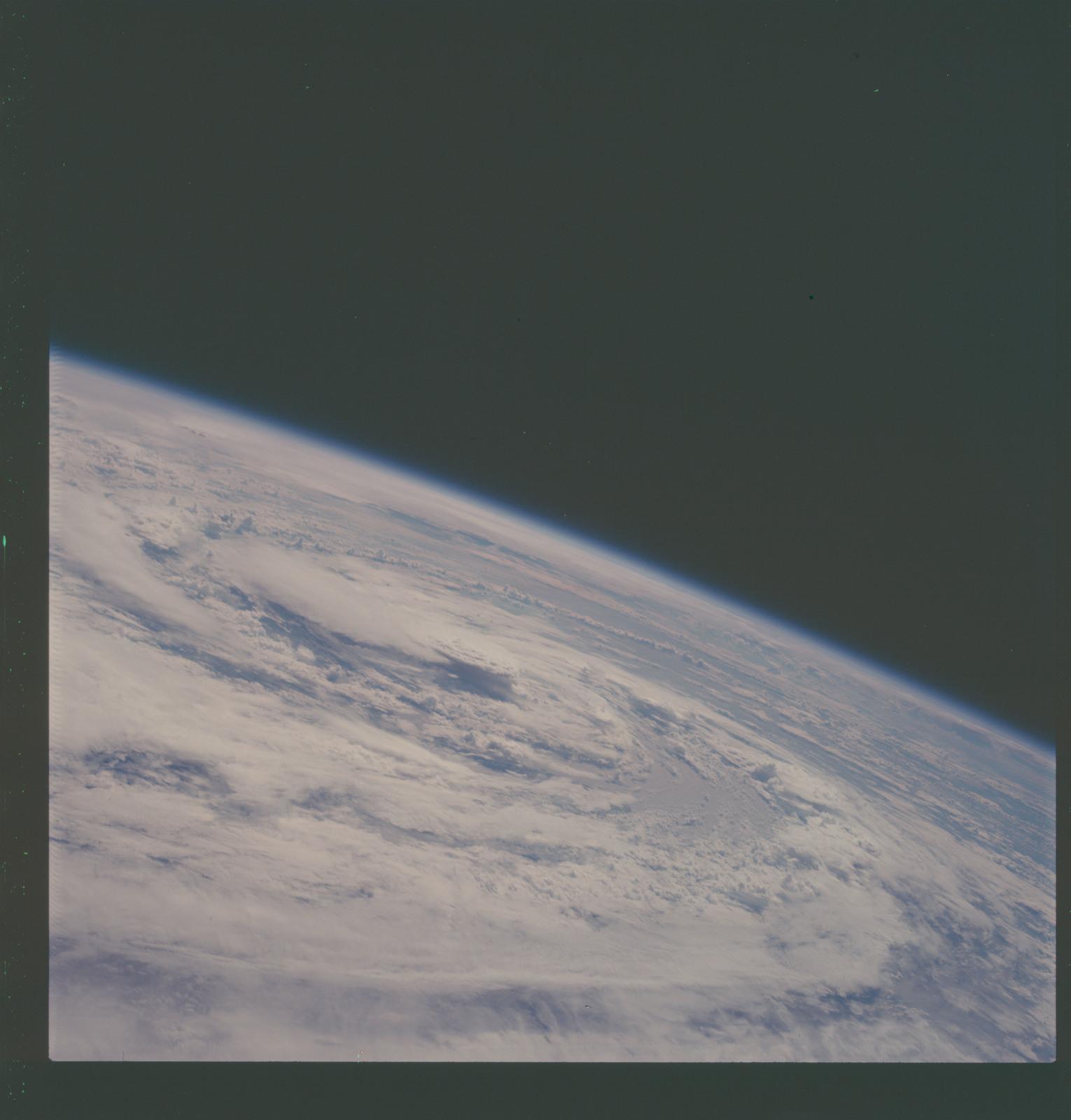 AS07-07-1876 - Apollo 7 - Apollo 7 Mission, Hurricane Gladys in the Gulf of Mexico