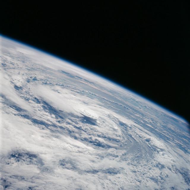 AS07-07-1877 - Apollo 7 - Apollo 7 Mission, Hurricane Gladys in the Gulf of Mexico