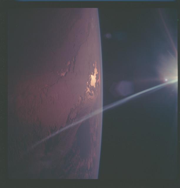 AS07-08-1889 - Apollo 7 - Apollo 7 Mission, Earth limb and Terminator