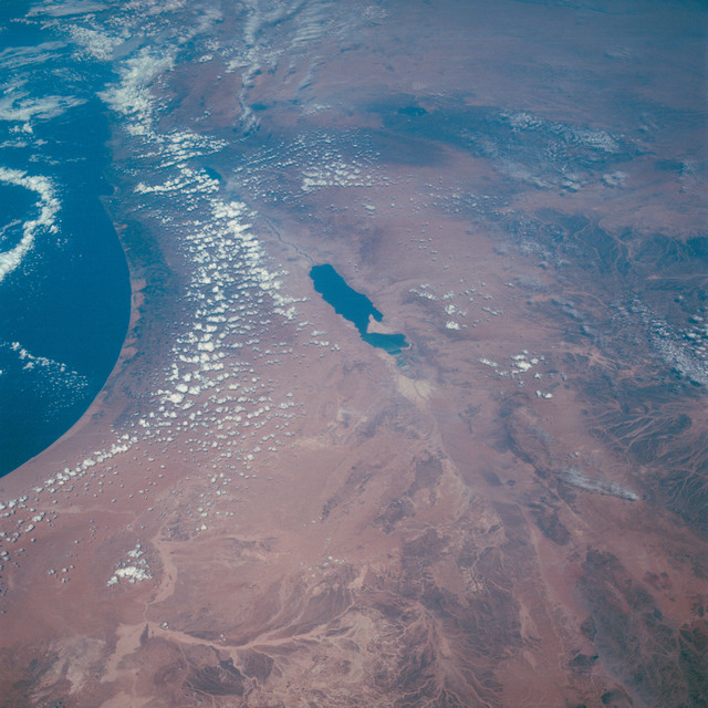 AS07-11-2010 - Apollo 7 - Apollo 7 Mission, Israel, Jordan, Syria, Lebanon