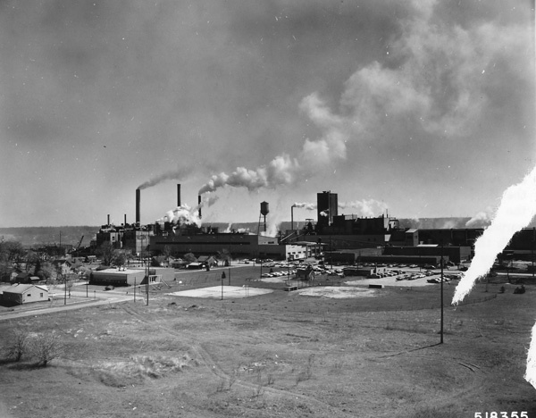 Photograph of Pulp Mill at Manistee, Michigan