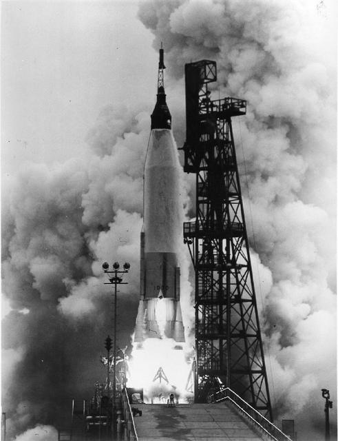 Photo of the Launch of Mercury-Atlas 7