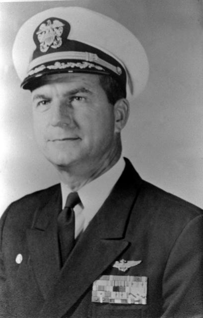 CAPT. John P. Moorer, USN (covered) CO, USS RANGER (CV-61), 1969-1970