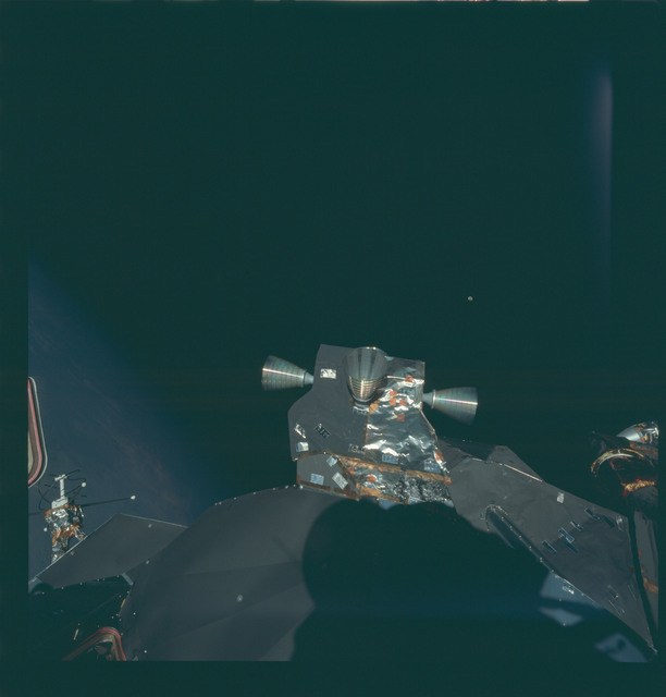 AS09-20-3058 - Apollo 9 - Apollo 9 Mission image - View of retro rockets on the Lunar Module