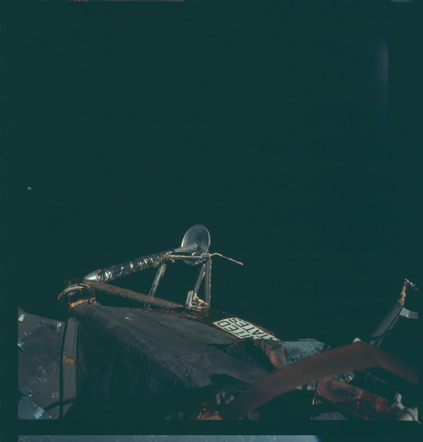 AS09-20-3059 - Apollo 9 - Apollo 9 Mission image - View of the leg on the Lunar Module