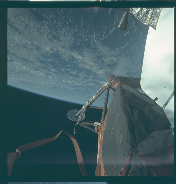 AS09-20-3063 - Apollo 9 - Apollo 9 Mission image - View of the leg on the Lunar Module