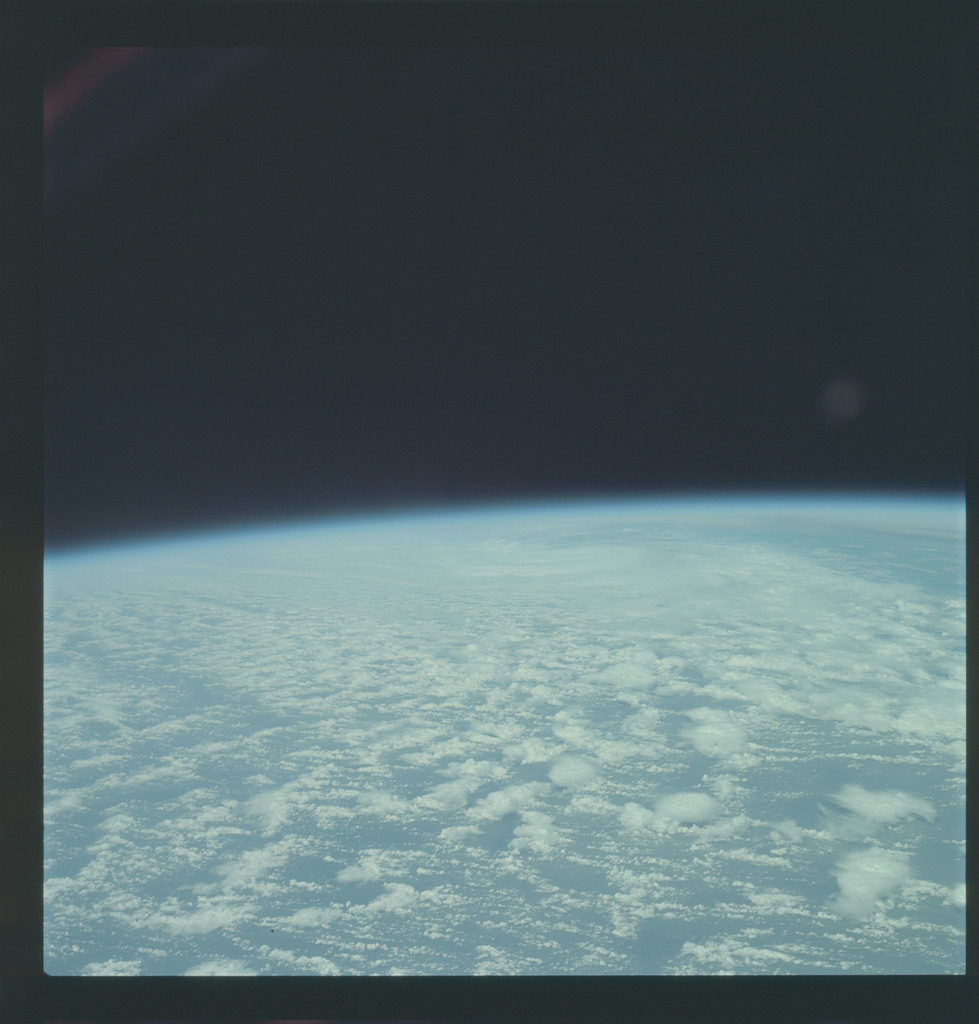 AS09-21-3257 - Apollo 9 - Apollo 9 Mission image - Earth Observations - Clouds and Atlantic Ocean