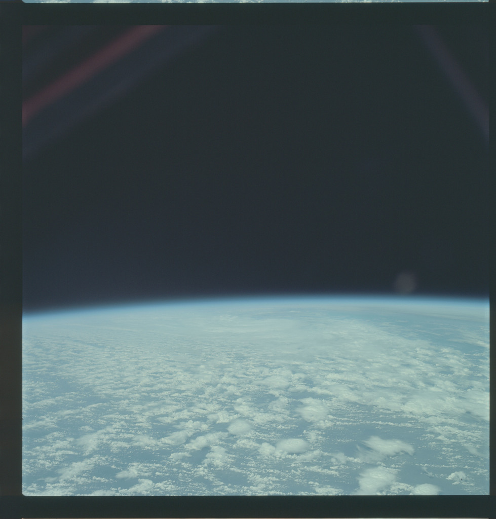AS09-21-3258 - Apollo 9 - Apollo 9 Mission image - Earth Observations - Clouds and Atlantic Ocean