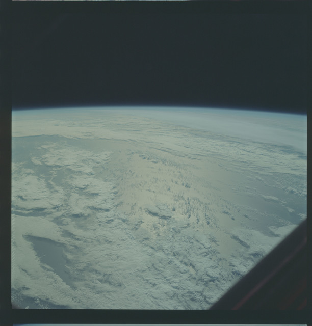 AS09-22-3354 - Apollo 9 - Apollo 9 Mission image - Earth Observations - Frontal zone over water